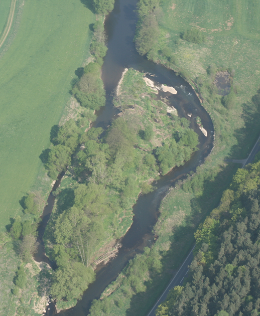 German comparison restoration site: river Lahn, photo: ©Lorenz