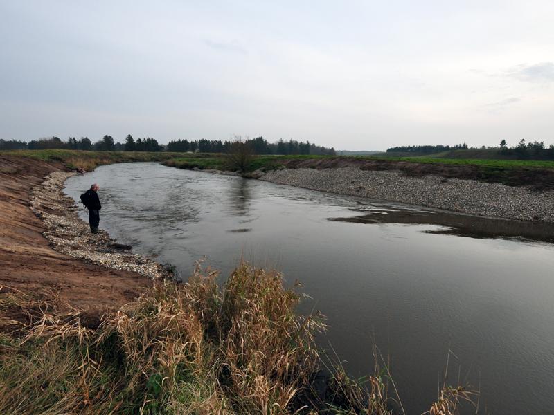 The restored reach of River Storå (Photo: www.sportsfiskeren.dk)